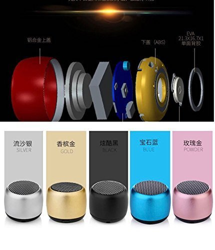 Finaux World's Smallest Bluetooth Speaker with Mic, Hands-free voice calling and Selfie Remote Shutter Feature for All Android and iPhone
