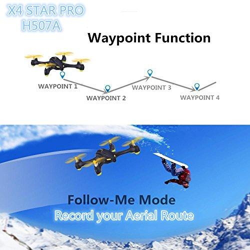 Hubsan H507A X4 Star PRO Droni Quadricotteri GPS Fotocamera 720P App(507A)