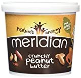 Meridian Natural Crunchy Peanut Butter With No Added Salt 1 kg - Pack of 2