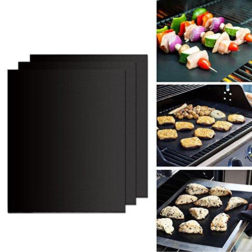 Gwhole Set di 3 Barbecue Grill Mat 50x45cm, Stuoie Grigliata, Forno Liner, Cottura Mat,...