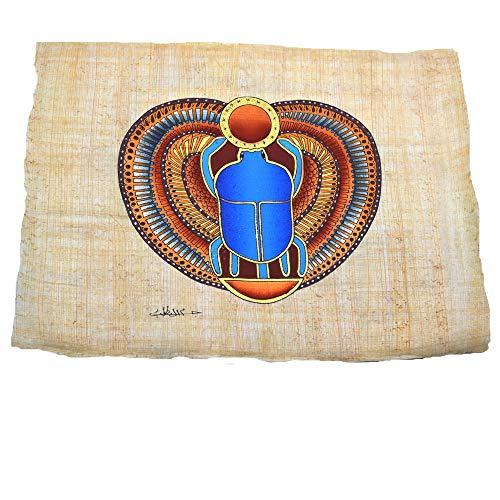 Papiro Egipcio Original Escarabajo de la Suerte