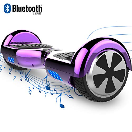 COLORWAY Hoverboard Elettrico App Scooter a 8 Pollici con Bluetooth & LED Auto Balance E-Skateboard