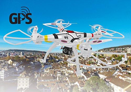Jamara 422026 Drone con GPS, Bianco