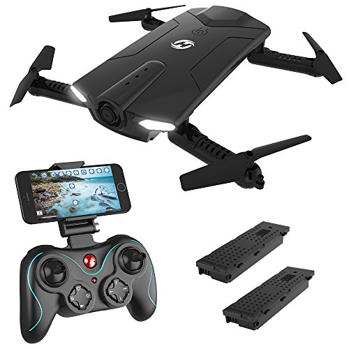 Holy Stone HS160 FPV Mini Drohne faltbar mit HD Kamera live ubertragung lange Flugzeit rc pocket Drohne RTF Quadcopter ferngesteuert mit Höhenhaltung,Headless Modus,App steuern für Anfänger und Kinder