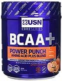 USN BCAA Power Punch Amino Acid Plus Blend, Tangerine, 400 g
