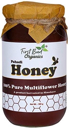 Pahadi Organic Honey by FirstBud Organics -500 gm | Wild Flora Honey |Unprocessed l Unpasteurized l No Artificial Flavor