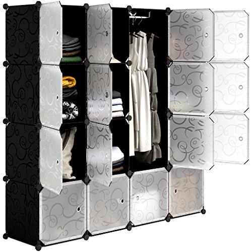 LANGRIA 16-cubo Scarpiera Armadio Armadietto Guardaroba Scaffale Cubi Mobiletto Modulare Modello...