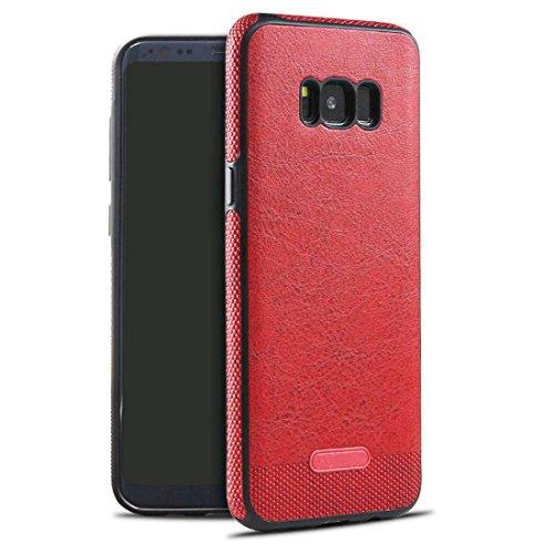 """JEPER Kompatibel mit Samsung Galaxy S8 Lederhülle, 360 Grad Rundum-Schutz Premium PU Ledertasche Schutzhülle Handyhülle Backcover Schale für Original Samsung Galaxy S8 5.8\"""" Smartphone (S8, red)"""