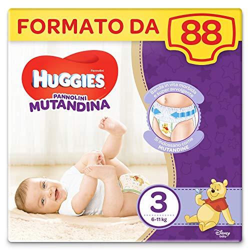 Huggies Pannolino Mutandina, Taglia 3 (6-11 Kg), 2 Pacchi da 44 Pezzi