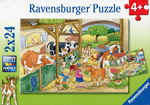 Ravensburger 09195 9 - Vita di Campagna, Puzzle 2x24 Pezzi