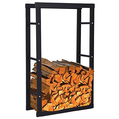 Zelsius - Kaminholzregal, Ständer für Kaminholz in verschiedenen Größen verfügbar ((H) 150 x (B) 60 x (T) 25 cm)