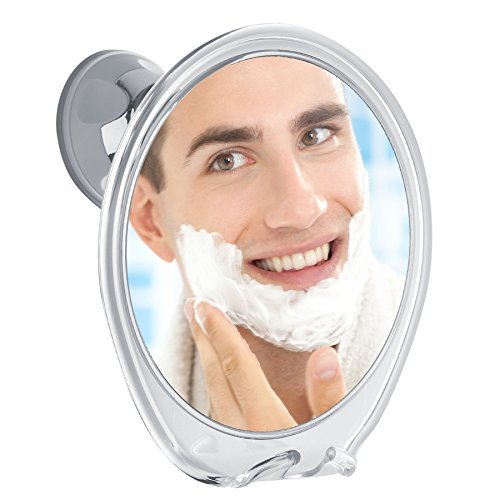 Fogless Shower Mirror With Razor Hook For Anti Fog Shaving, 360 Degree Rotating For Easy Mirrors Viewing, Strong Power Lock Suction Cup Designed Not To Fall, Enhance Your Shave Experience Now!