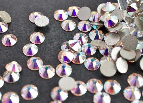 De litio original de diseño con cristales Swarovsky con diversos FLAT-BACK 2058 RHINESTONE diseño con forma de - Diseño con piedras de cristal a partir de 11 mm (SS48) 5 de la magdalena en el paquete