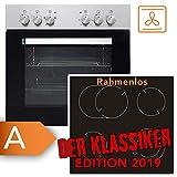 Einbauherdset Frankenberg Elite 6000 Herd Ceran Kochfeld | TOP Preis-/Leistungsverhältnis | 2+1 Dualzone und eine Bräterzone | Restwärmeanzeige