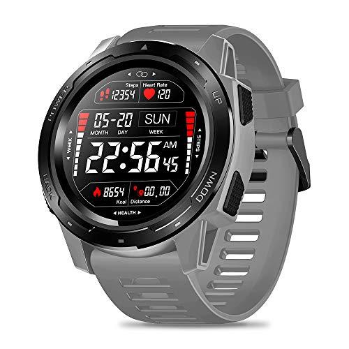 Festnight Zeblaze Vibe 5 Smart Watch Orologio Digitale Bracciale Femminile/Maschio Orologio Digitale IPS Schermo a Colori 240 * 240 Risoluzione Pixel IP67 Impermeabile Frequenza Cardiaca