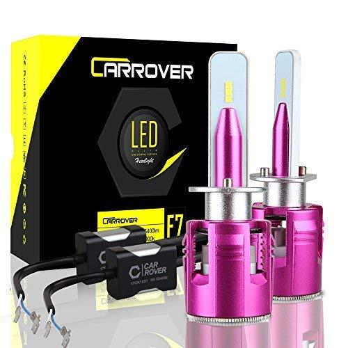 CAR ROVER Lampadine H1 LED 10800LM Fari Abbaglianti o Fendinebbia per Auto, Kit Sostituzione per...