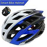 LIVALL BH60 Smart Fahrradhelm Bluetooth Radhelm, Blau, 55-61 cm