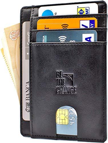 84ad862c3f Portafoglio Uomo Piccolo Sottile - Mini Porta Carte Credito Uomo Pelle con  Protezione RFID e Tasca Banconote - PortaTessere Slim Minimalista anche per  Donna ...