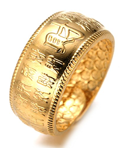 Anillo egipcio chapado en Oro de 18K