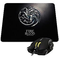 """Alfombra de ratón Game of Throne de la casa Targaryen y Sa Devise """"Fire and Blood–Kanto Factory -"""
