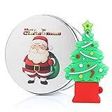 Árbol de Navidad de Papá Noel Memoria USB Stick Unidad Flash USB Sticks Pen kenor USB Flash Drive Reno Regalo Presente Verde Tree