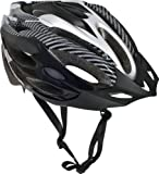 Trespass Crankster, Black, S/M, Adjustable Cycle Safety Helmet with Ventilation, Small/Medium, Black