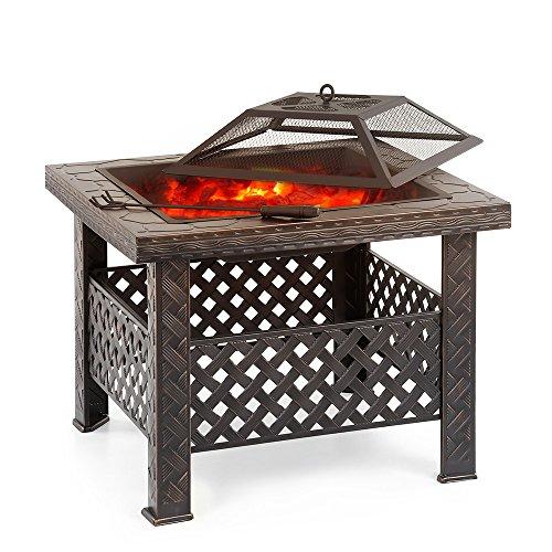 Ikayaa brasero de jardin brasero barbecue de table en for Dessus cheminee exterieure