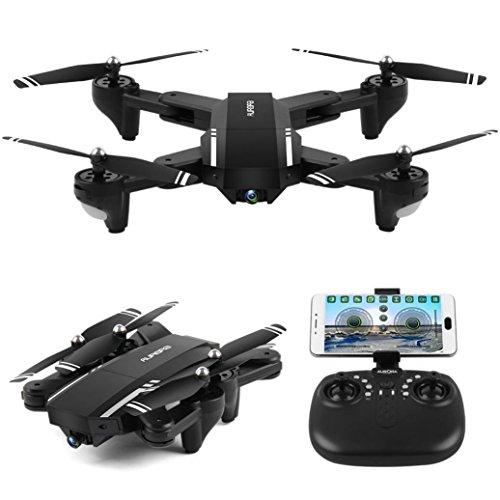 Drone, ASHOP Giocattolo Drone Aereo Telecomandato Aereo, Mini Q39W Pieghevole Con Wifi Fpv Hd...