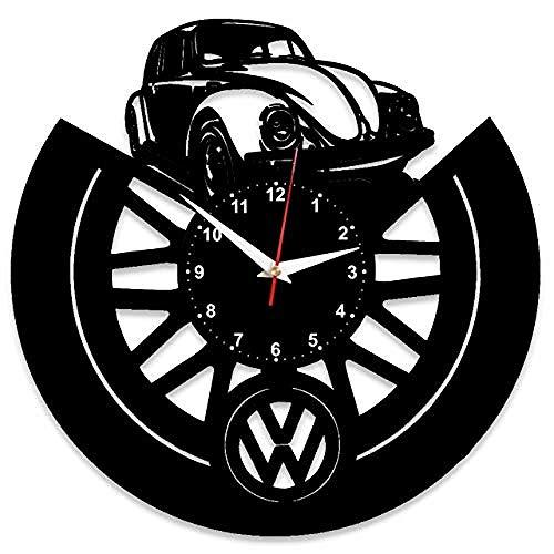 AIYOUBU Orologio da Parete in Vinile per VW Volkswagen con placca in Vinile Grande Stile Orologi Decorazione della casa Idea Regalo superbo per VW Volkswagen