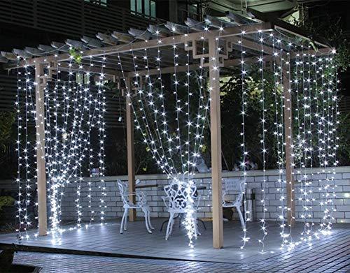 SALCAR 3 x 3 Metri 300 LED Catena di luci per Natale, Decorazione Feste, Interni, 8 programmi di...