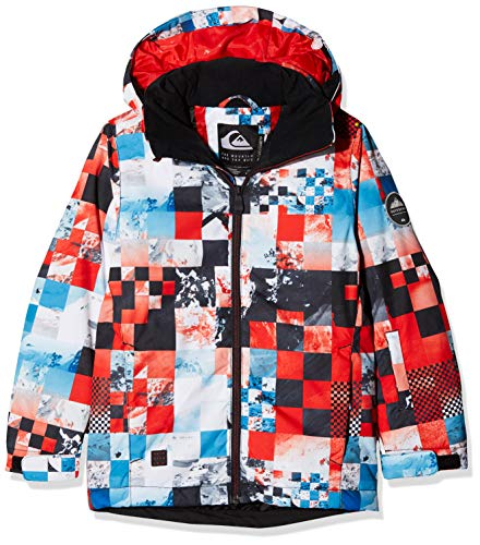 Quiksilver Mission Printed Youth, Giacca da Neve Bambini e Ragazzi, Flame Scarlett/Money Time, 14/XL