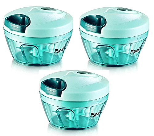 Pigeon Handy Chopper, Triple Blade, Green Colour With Pull Cord Technology (Set Of 3 Pcs.)