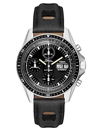 Yema Flygraf Heritage YFLYGRAF - Orologio da uomo, movimento cronografo svizzero ETA VALJOUX 7750,...