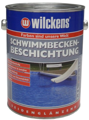 Wilckens Schwimmbecken Beschichtung, poolblau, 2,5 Liter 11651200080 [Werkzeug]
