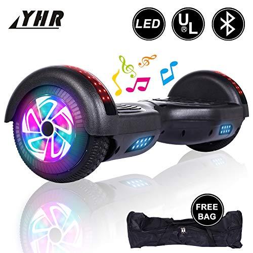 YHR 6.5 'Due Ruote Auto bilanciamento Scooter Elettrico con Bluetooth, 2 * 300W Motore e LED,...