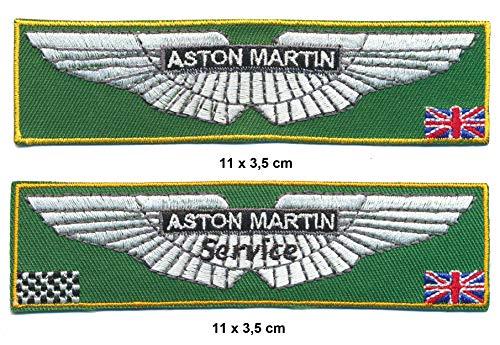 Racing Classics Aston Martin Toppa da Cucire, 2 Pezzi, per Auto, Carrozzina Sportiva, Inghilterra