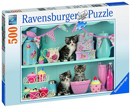 Ravensburger Italy Puzzle Gattini e Cupcakes, 500 Pezzi 14684