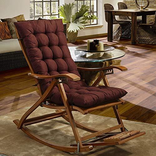RXF Rechteckiges Sitzkissen Rutschfeste, gepolsterte Liegematte Innen- und Außenschaukelstuhlkissen Heimsofa Baumwolle Pad-Enthält keinen Schaukelstuhl (Farbe : Brown, größe : 48x160cm)