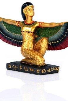 Decorativo Oro egipcio Isis con alas figura decorativa arrodillado antiguo Egipto regalos PDS
