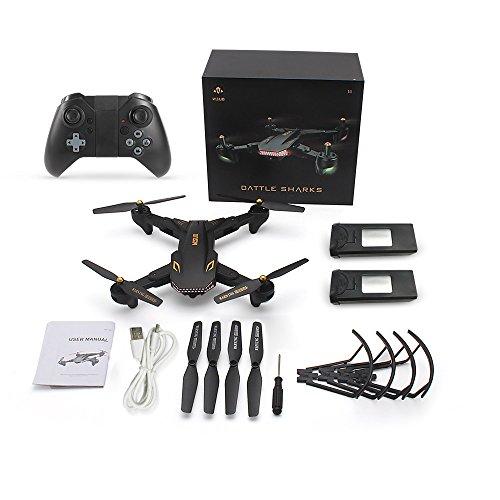 Goolsky VISUO XS809S Drone 2.0MP Grand Angle Caméra Wifi FPV Pliable Drone Une Clé Retour Altitude Maintenir G-capteur Quadcopter avec Une B... 9