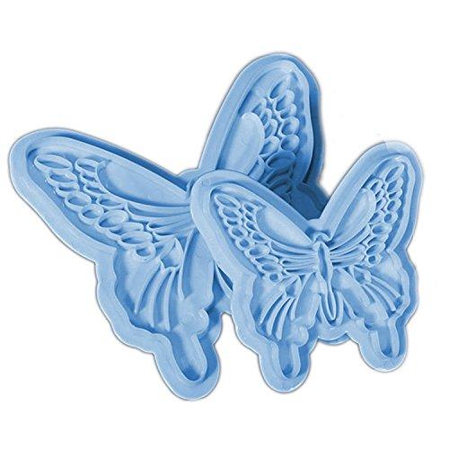 Gosear 2 Piezas Jalea de Azúcar Fondant de Caramelo Arte Molde de Hornada Decoración de Molde Bricolaje,Forma de Mariposa