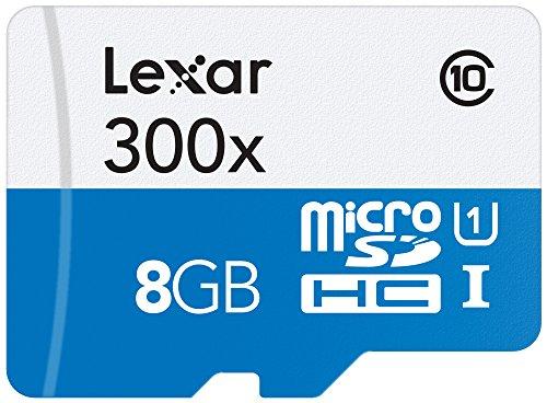 Lexar LSDMI8GBBBEU300 Scheda di Memoria microSDH con microSDXC UHS i da 8GB