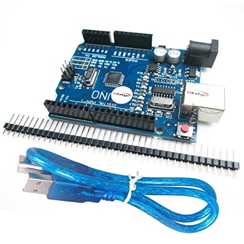 HiLetgo UNO R3 ATmega328P CH340 Development Board Compatible Arduino UNO R3 Arduino IDE Develope Kit Microcontroller with USB Cable Straight Pin Header 2.54mm Pitch Robot Parts