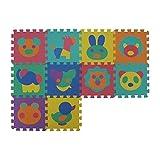 VeloVendo Alfombra Puzzle Infantiles con Certificado CE & TÜV | Suelo de espuma EVA | Tapete de Juego | Alfombra suave para Bebé | Manta Juegos (Letras + Números)