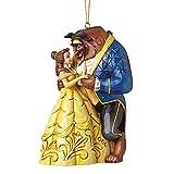 Disney Traditions A28960 Bella e la Bestia, Resina, Multicolore, 8x8x10 cm