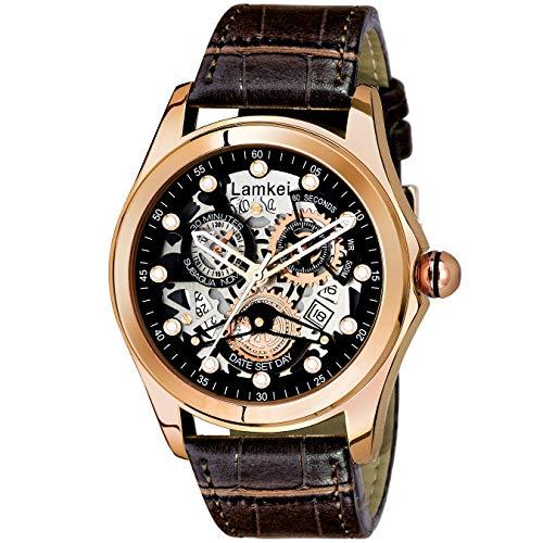 Lamkei Imported Analogue Date Quartz Multicolour Dial Men's Watch - LAM-1181
