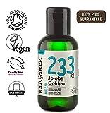 Naissance olio di Jojoba d'Oro Certificato Biologico 60ml - puro al 100%, Pressato a Freddo, Vegan, Cruelty Free, senza OGM, per l'idratazione della pelle e dei capelli