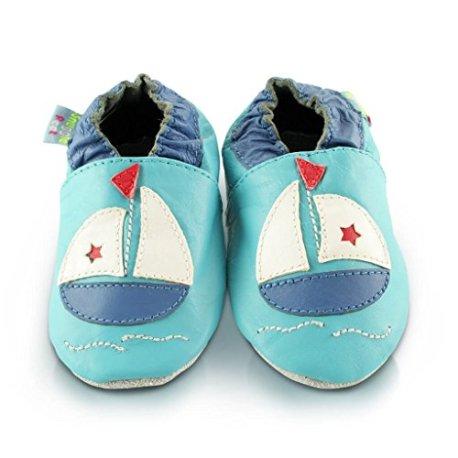 1cbba4bcc587a Snuggle Feet - Chaussons Bébé en Faux Cuir Doux - 0-6 Mois