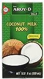 Aroy-D Kokosnussmilch (aus Thailand, Fettgehalt ca. 17%) 8er Vorteilspack à 500ml