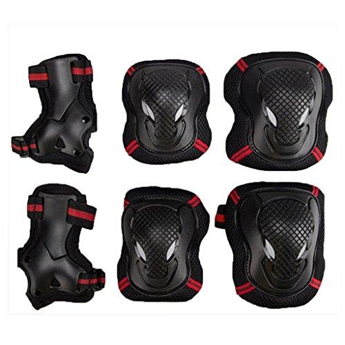 EONPOW Kit protezione per ginocchia gomiti polsi pattini in linea ginocchiere gomitiere e polsiere...